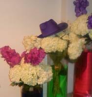 Fleurs chapeau