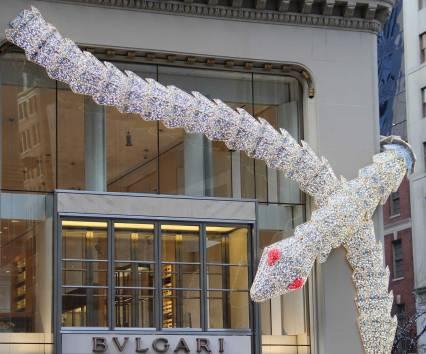 vitrine de Noël de BULGARI